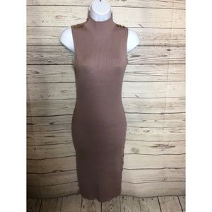 Midi Top Long Neck Dress Color purple Size Large